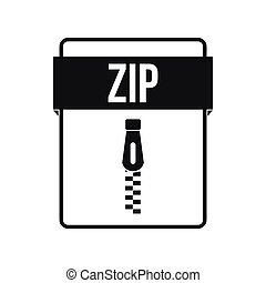 ZIP file icon, simple style