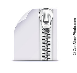 illustration of interface computer zip file icon