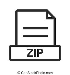 ZIP, folder, zipped icon vector image. Can also be used for file format, design and storage. Suitable for mobile apps, web apps and print media.