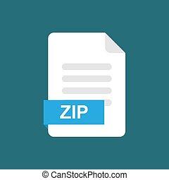 zip format file icon symbol