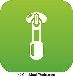 Zip icon, simple style