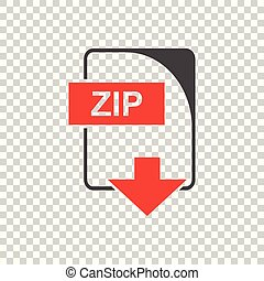 Zip Icon vector flat