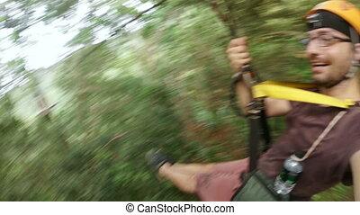 Zipline flying extreme sports, phuket, thailand