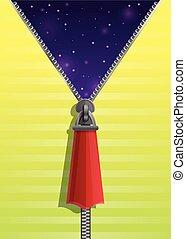 Zipper concept banner, cartoon style