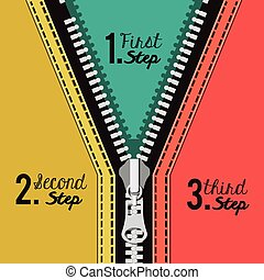 Zipper digital design, vector illustration eps 10