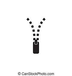 Zipper for clothing logo design template - Zipper for ...