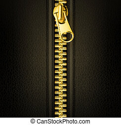 Zipper gold