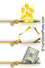 Zipper icon set