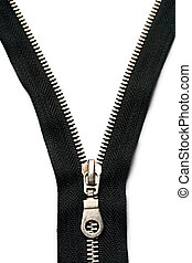 zipper, isolado, branco