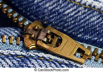 Macro of a zipper