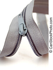 Zipper on white background