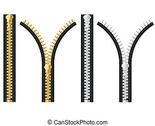zipper, vector, illustratie