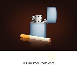 zippo, fumar cigarrillo