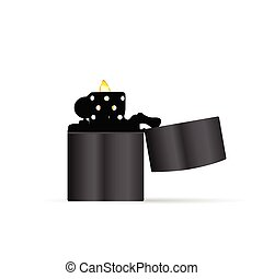 zippo lighter vector illustration