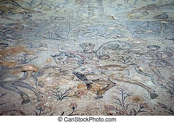 Mosaics on the floor