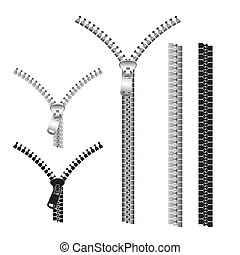 zips vector isolated over white background. vector ...