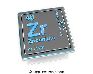 Zirconium. Chemical element. 3d