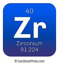 Periodic table element zirconium icon periodic table vector zirconium chemical element urtaz Images
