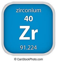 Zirconium material sign zirconium material on the periodic table zirconium material sign urtaz Images