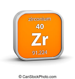 Zirconium material sign - Zirconium material on the periodic...