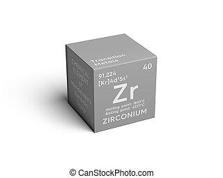 Zirconium element periodic table isolated on white drawing zirconium transition metals chemical element of mendeleevs periodic table urtaz Images