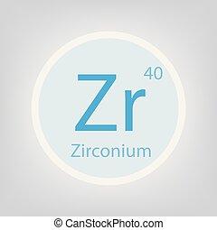 Periodic table element zirconium icon periodic table element zirconium zr chemical element icon urtaz Gallery