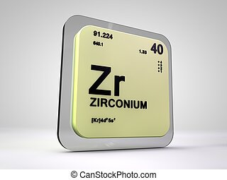 Tin sn chemical element periodic table 3d render clipart zirconium zr chemical element periodic table 3d render urtaz Gallery