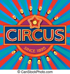 zirkus, banner, retro