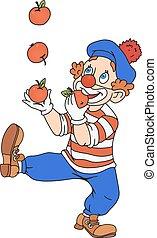 zirkus, jonglieren, clown