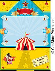 zirkus, sandstrand