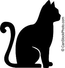 zittende , gracefull, kat