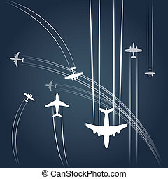 zivil, airplanes`, transport, pfad