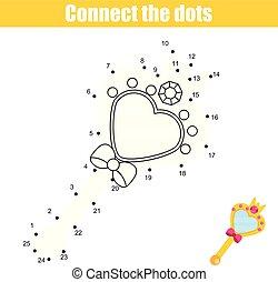 zjednajcie wielokropek, przez, takty muzyczne, dzieci, oświatowy, game., printable, worksheet, activity., księżna, lustro
