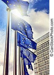 zjednoczenie, bandery, europejczyk