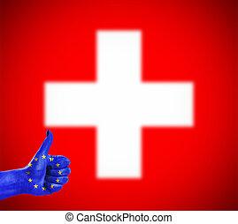 zjednoczenie, pozytywny stosunek, szwajcaria, europejczyk