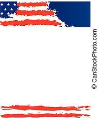 zjednoczony, afisz, stany, bandera, szablon, ameryka