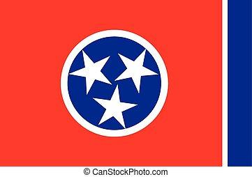 zjednoczony, -, bandera, stany, stan, tennessee, ameryka