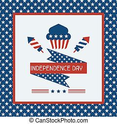 zjednoczony, card., powitanie, stany, ameryka, dzień,...