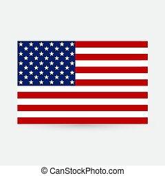 zjednoczony, illustration., star-spangled, flag., wizerunek, states., bandera, stany, tło., america., wektor, gwiazdy, stripes., amerykanka, chorągiew, usa.
