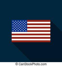 zjednoczony, illustration., usa, banner., kolor, flag., star-spangled, states., bandera, stany, tło., america., wektor, vector., original., wizerunek, rozmiar