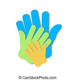zjednoczony, przyjaźń, rodzina, symbol, -, drużyna, poparcie, projektować, szablon, inny