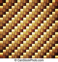 zlatý, čtverec, seamless, vektor, opatřený plovací blánou, ...