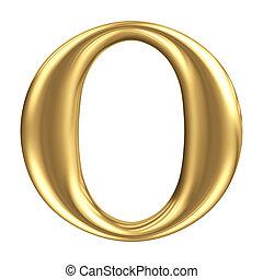 zlatý, fádní, o, klenoty, vybírání, litera, kropenka