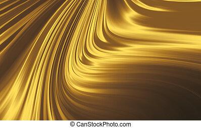 zlatý, hedvábí