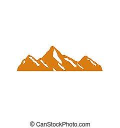 zlatý, hora, sněžit, design, ikona, neposkvrněný