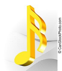zlatý, hudba, ikona