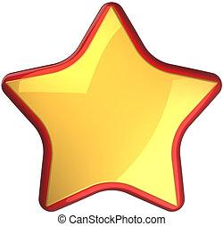 zlatý, hvězda, hlasovat, nejlépe, výběr