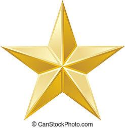 zlatý, hvězda