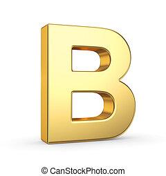 zlatý, neposkvrněný, litera