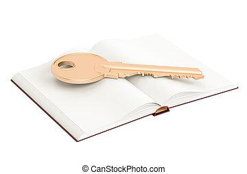 zlatý, povzbuzující trávení, čistý, překlad, kniha, klapka, 3